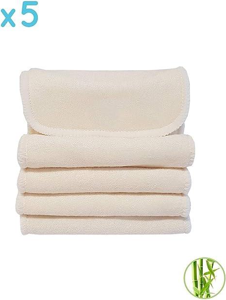 Lot de 5 inserts en microfibre pour couches lavables Maman et bb Nature