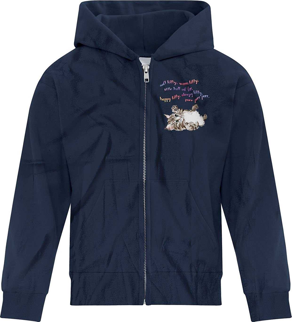 BSW Boys Soft Kitty Sheldon Cooper Big Bang Theory Song Zip Hoodie MED Navy