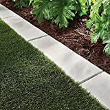 Trim Free Lawn Border- Set of 5 - Each Panel Measures 8-1/4'' W x 25'' D x 1 1/4'' H (Natural Slate)