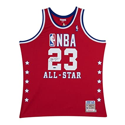 61801e2afb4 Michael Jordan Signed Autograph Jersey 1989 Red Mitchell & Ness All-Star  UDA COA