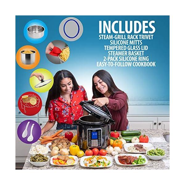 Deco Chef 8 QT 10-in-1 Pressure Cooker Instant Rice, Saute, Slow Cook, Yogurt, Meats, Deserts, Soups, Stews Includes… 5