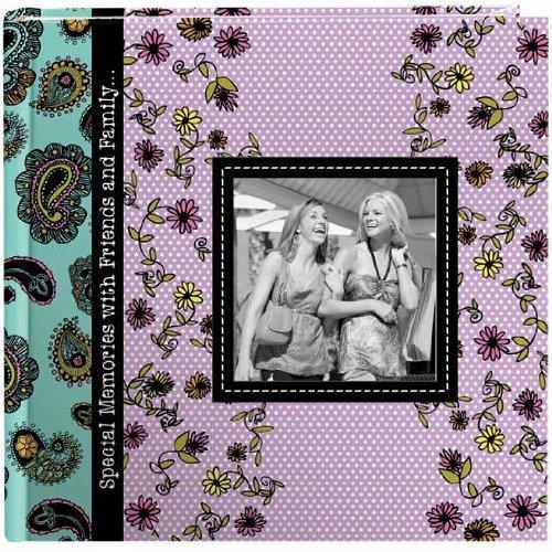 Pioneer Designer Raised Frame Cover Photo Album, Paisley ()