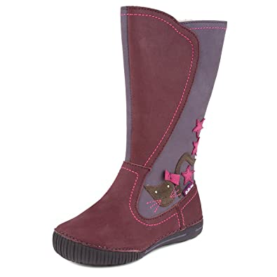 35af14272393d Amazon.com   D. D. Step Insulated Girls' Boots, Genuine Leather, Red ...