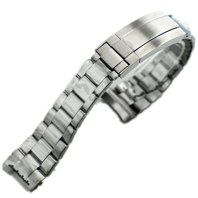 bliger 21 mmバンド316lソリッドステンレススチールブレスレットフィット43 mm腕時計p609  B07487ZSGH