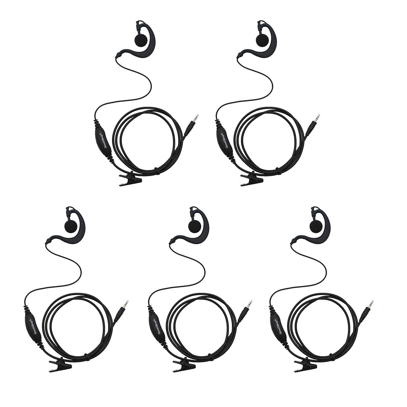 Clip Ear Headset//Earpiece For Cobra Radio PR375//PR385 CXT235 CXT280