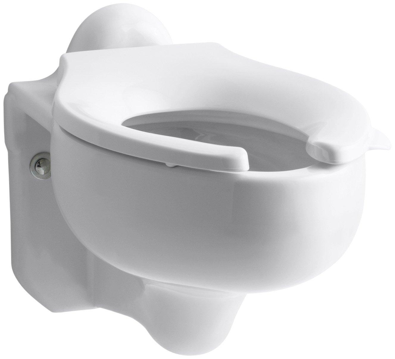kohler k4460c0 sifton waterguard wallhung toilet bowl white amazoncom - Wall Hung Toilet