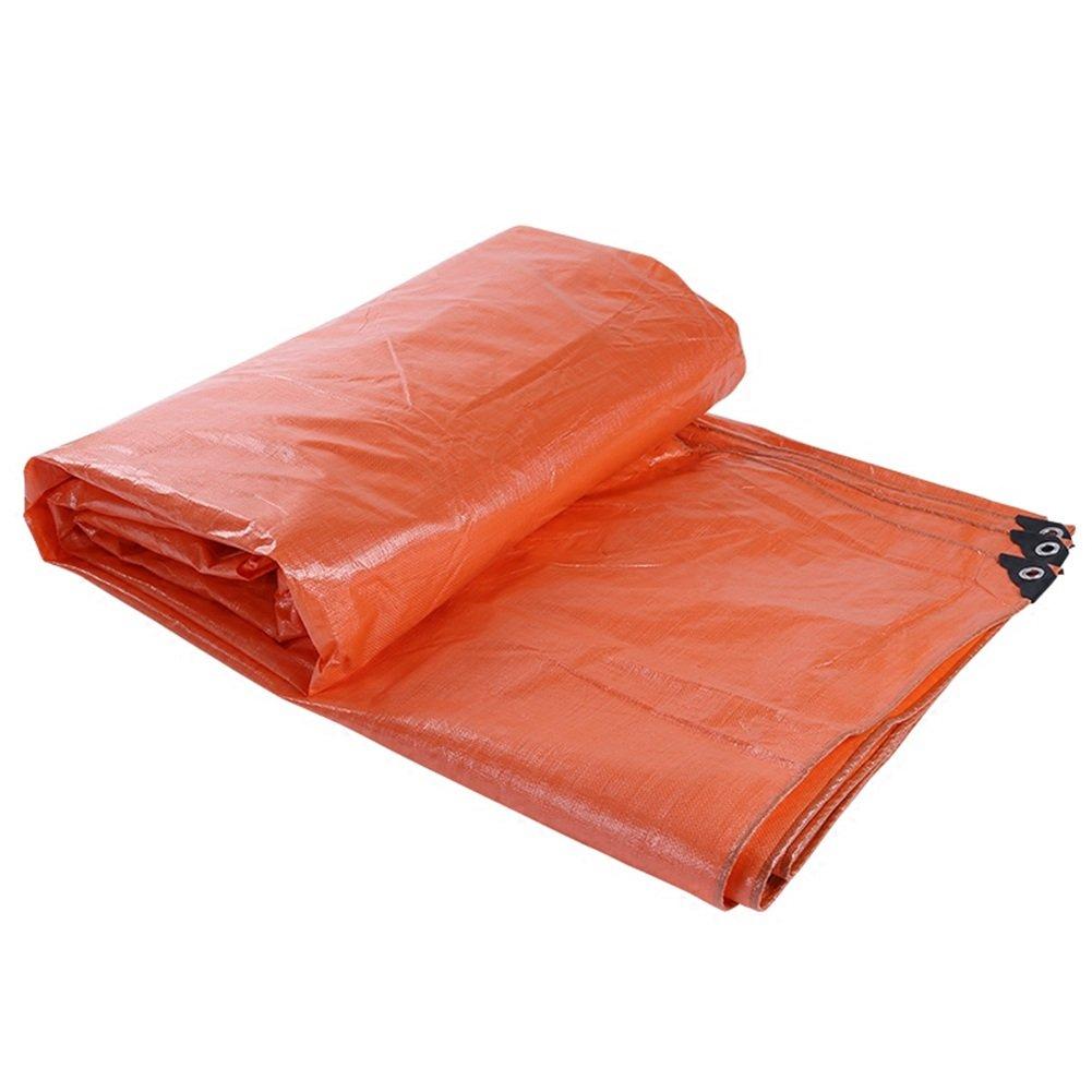 ZEMIN オーニング サンシェード ターポリン 防水 日焼け止め シート テント ルーフ 防風 カバー 薄いです ポリエステル、 オレンジ、 180G/利用可能な9サイズ (色 : オレンジ, サイズ さいず : 6X12M) B07D1MH5SB 6X12M|オレンジ オレンジ 6X12M