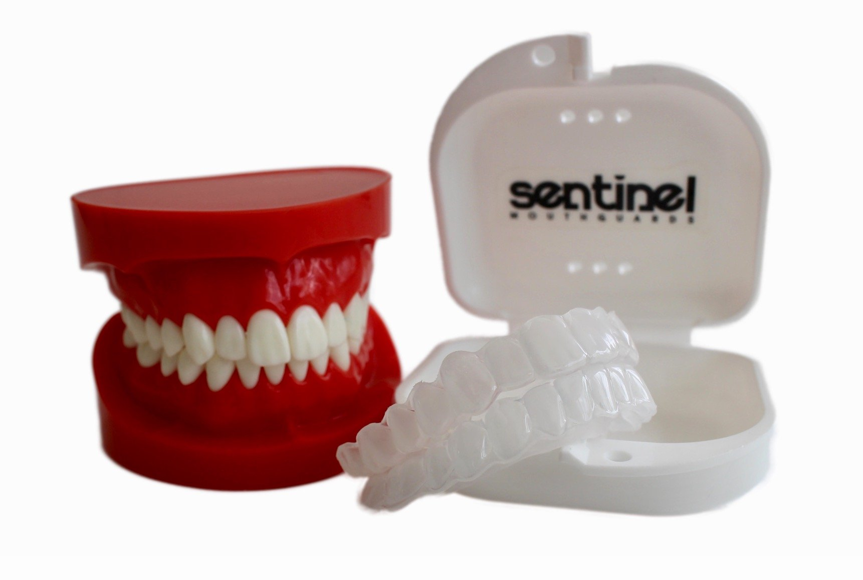 Upper & Lower Soft Dental Night Guards For Nighttime Tongue Biting. Soft Custom Fit Mouthguard To Protect Tongue Damage From Nocturnal Tongue Biting (Youth)