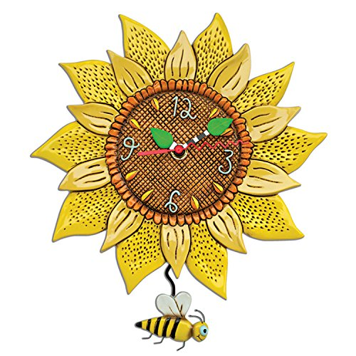 Bee Sunny Sunflower Wall Clock
