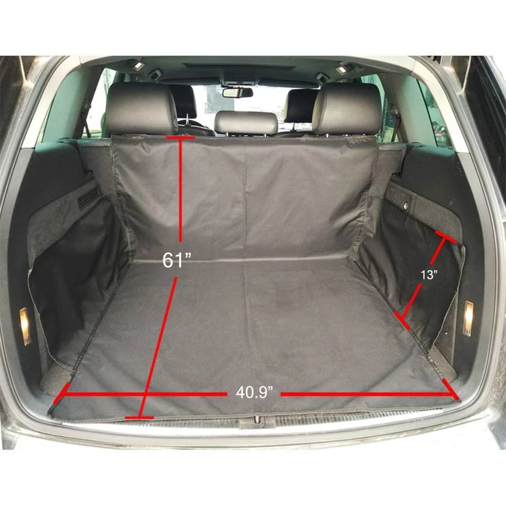 Car Seat Cover For Pets With Seat Anchors Predection Mat For The Trunck Of SUV Dog Mat Water Proof 61 x 40.9 x 13  Black