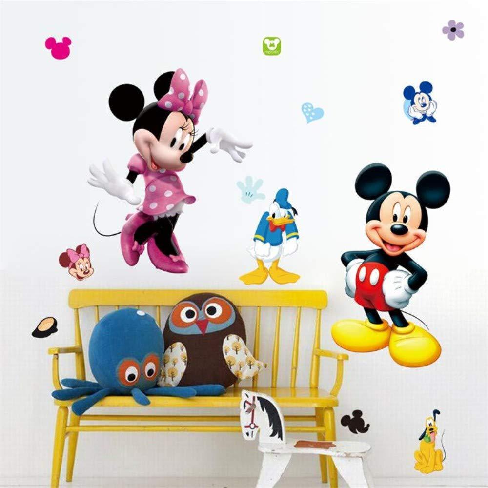 Dibujos animados Mickey Minnie Mouse Pegatinas de Pared Para ...