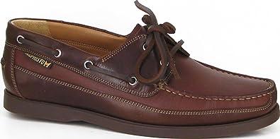 5bbf2929282243 Mephisto Hommes en Cuir de Dentelle Bateau Chaussures Bateau Marron - Marron  - châtaigne, 39.5