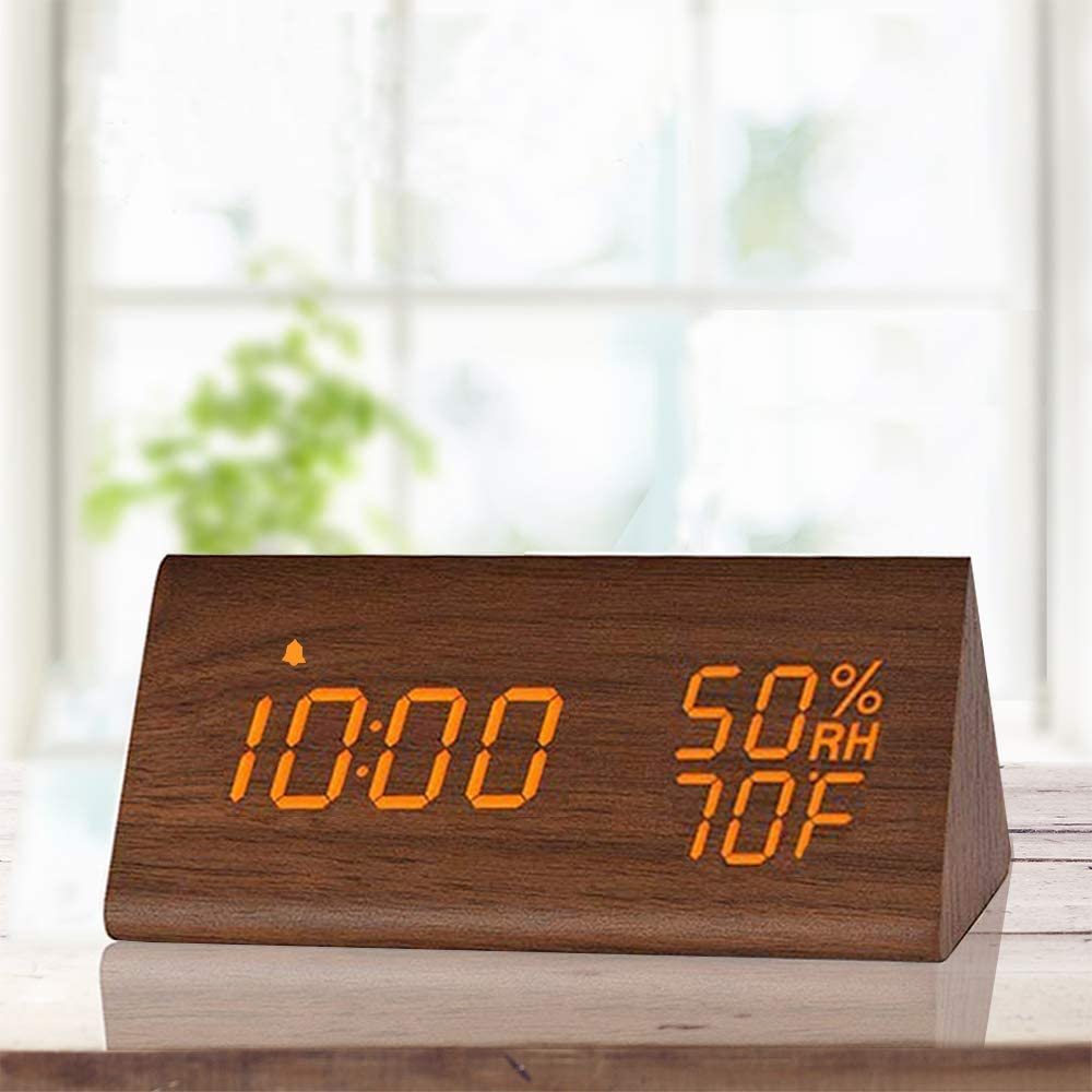 Wooden Digital Alarm Clock (Electronic LED)