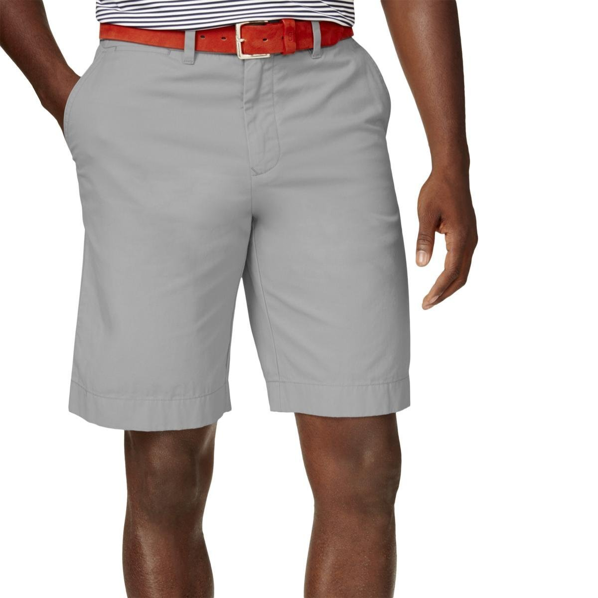 Tommy Hilfiger Mens Classic Fit Lightweight Casual Shorts Gray 40 by Tommy Hilfiger