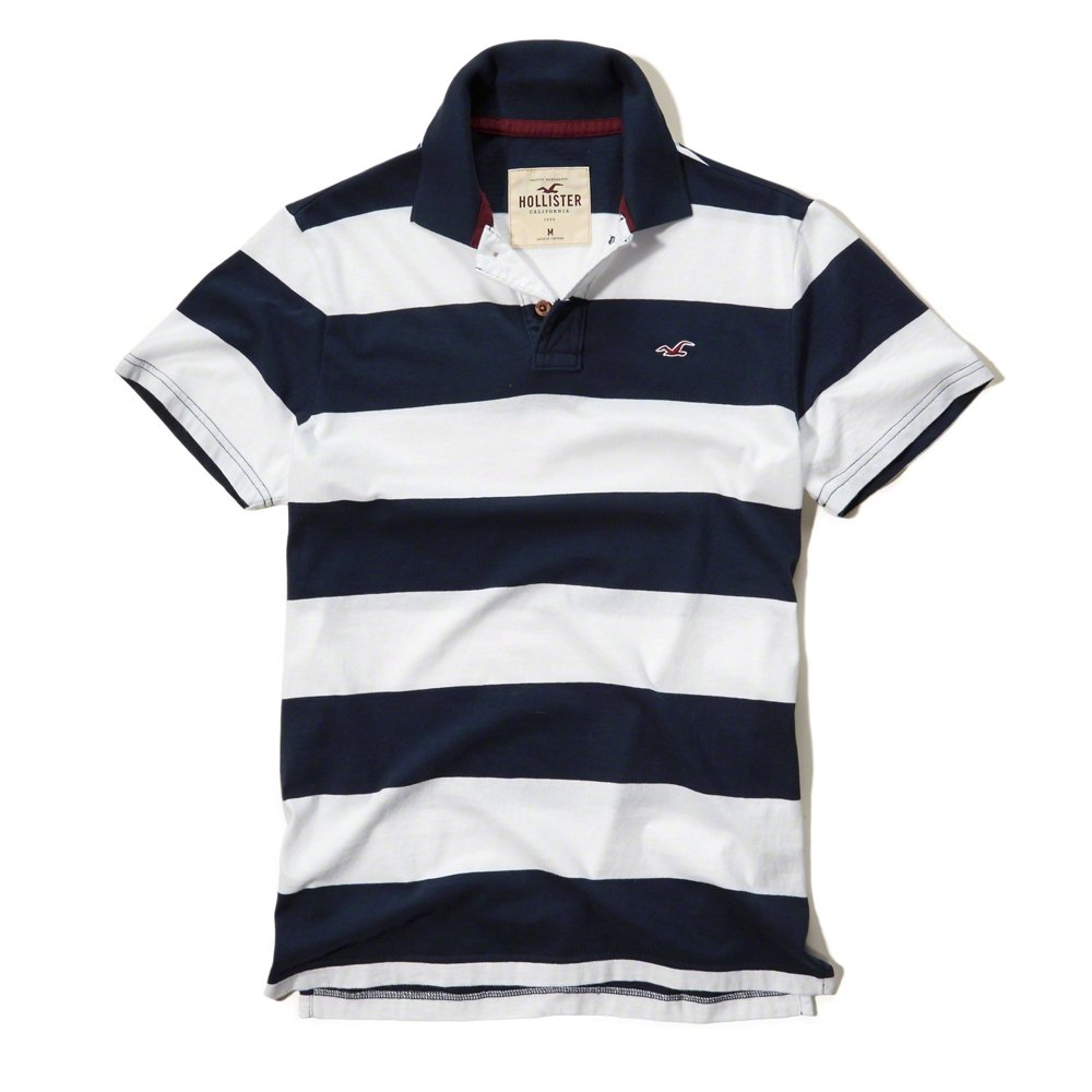 Hollister - Polo - para hombre azul azul marino Small: Amazon.es ...