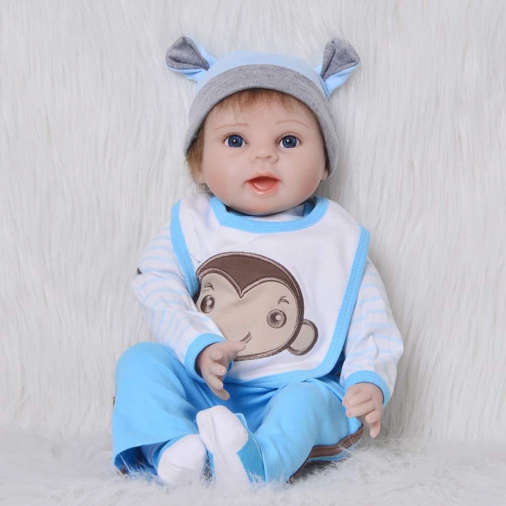 3bbcbf7e70 ... 55cm Bambole Reborn Baby Doll Corpo di Stoffa Famiglia Calda Calda  Calda Simulazione Neonati Rinati Ragazza ...