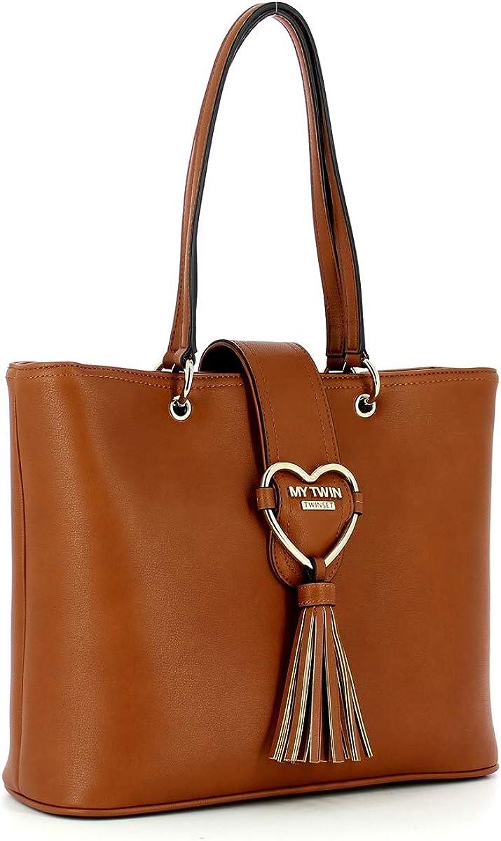 MY TWIN Shopping Bag Cuore, acheté en ligne par Bagalier.com, les plus beaux sacs d'été 2020 directement chez vous ! Cuir