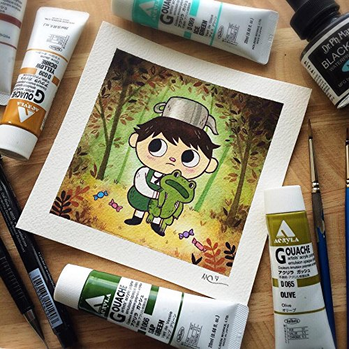 Over The Garden Wall Watercolor Print By Michelle Coffee Buy