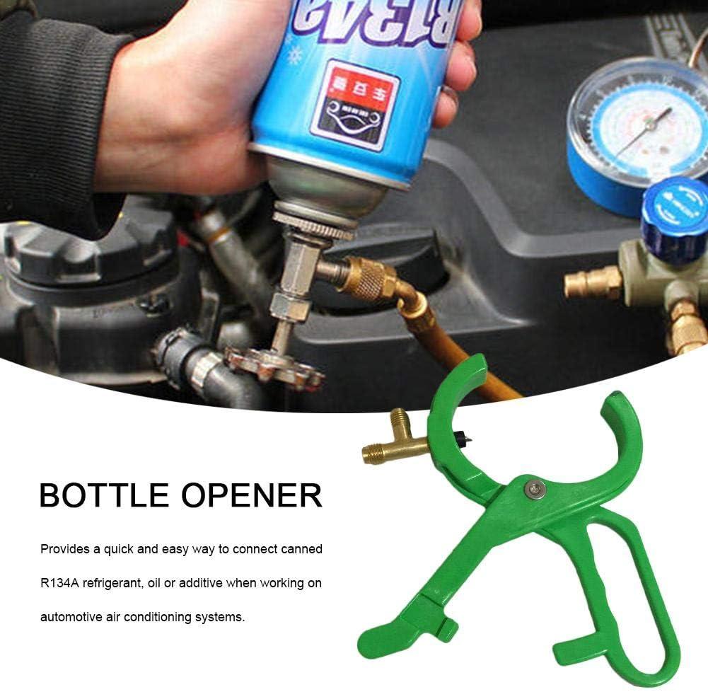 BularyUK R134A Refrigeration Bottle Opener Green Refrigeration Bottle Opener Open Valve CT006 Side Mount Can Tap Valve Car Air Conditioning Refrigerant Bottle Opener