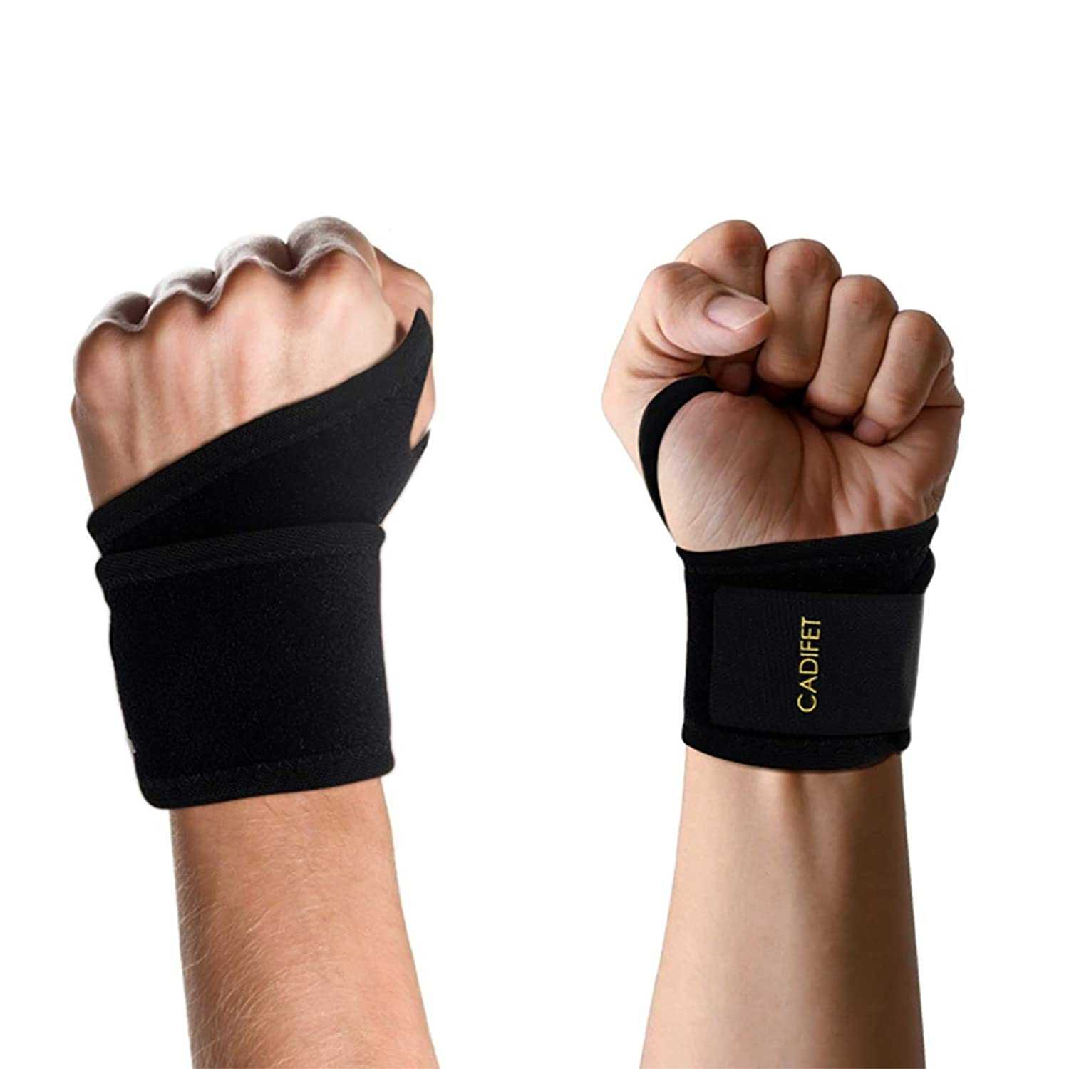 Wrist Brace for Carpal Tunnel, Adjustable Wrist Wrap Support Brace for Arthritis and Tendinitis, Wrist Strap with Pain Relief, Fit for Both Left Hand and Right Hand-Single