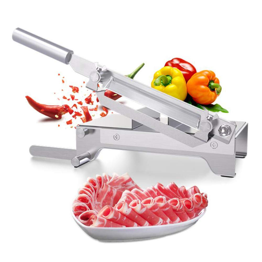 CGOLDENWALL Manual Frozen Meat Slicer Stainless Steel Meat Cutter Beef Mutton Household Roll Meat Vegetable Food Slicer Slicing Machine for Home Cooking Kit of Hot Pot by CGOLDENWALL