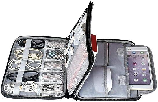 yingwang Accesorios para Discos Duros Bolsa de Transporte Gadget Bolsa Estuche para Cable de Viaje Organizador electrónico para Cargadores Cables Unidad de Disco Duro Powerbank-Negro l: Amazon.es: Electrónica