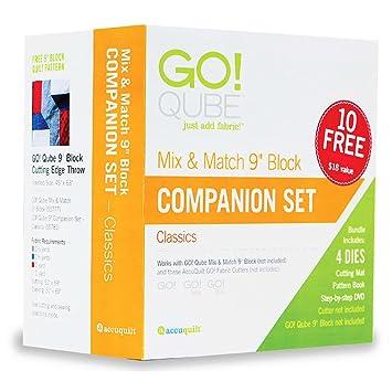 Amazon.com: AccuQuilt GO! Qube (Cube) 9 Inch Companion Die Set 55781 : accu quilt go - Adamdwight.com