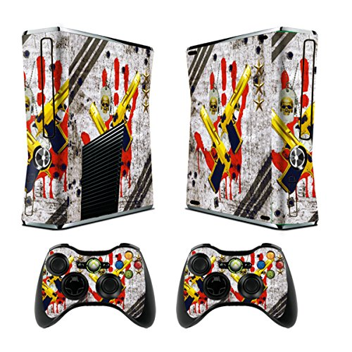 Skin for Xbox 360 Slim Sticker Decals for X360 Custom Cover Skins for Xbox360 Slim Modded Console Game Accessories Set Decal Stickers with 2 Wireless Remote Controllers - Ghost Ops (Lego Star Wars 2 On Xbox 360)