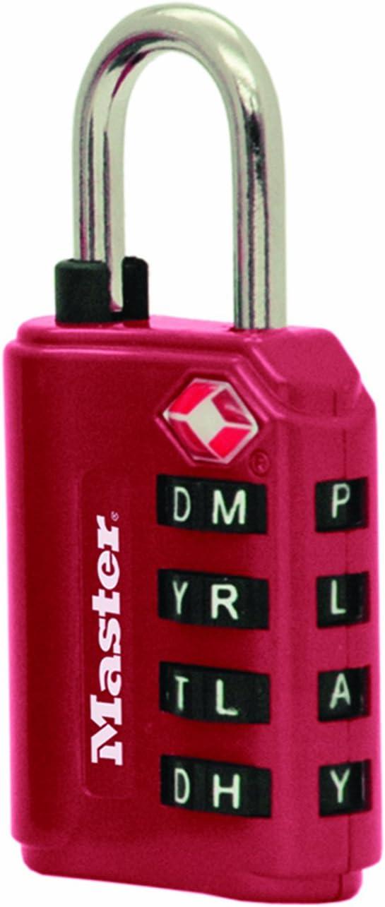 Blue Master Lock 4691DWDBLU TSA Accepted Set-Your-Own Password Combination Lock