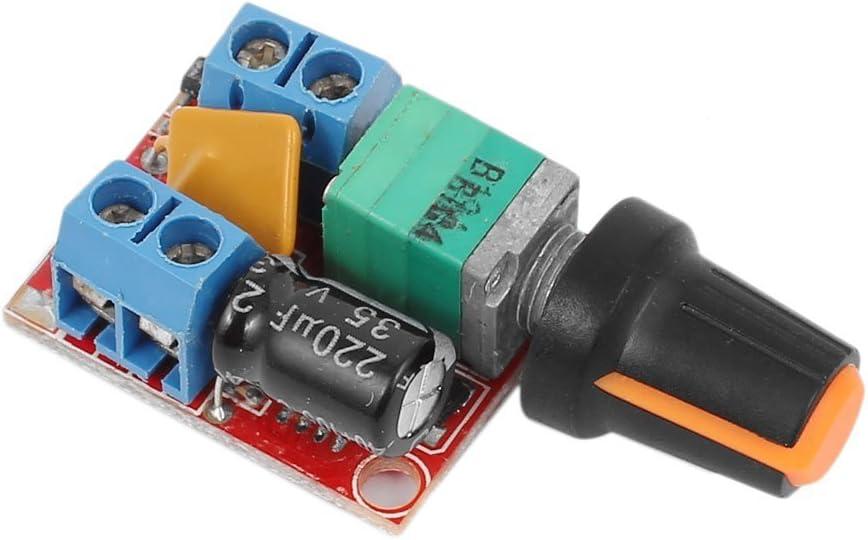 WINGONEER Controlador de control de velocidad del motor DC 3V-35V 5A Controlador PWM Stepless DC 3V 6V 12V 24V 35V Regulador de voltaje variable Regulador