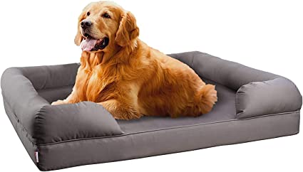 Petlo Orthopedic Mattress Pet Sofa Bed Solid Memory Foam Couch For Medium Large Dogs Cats With Washable Removable Cover 36 X 28 X 9 Grey Amazon Ca Pet Supplies