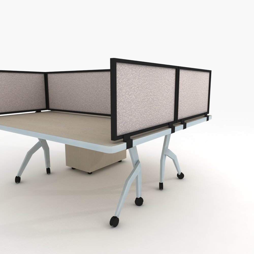 24'' Acoustical Desk Mounted Privacy Panel by OBEX