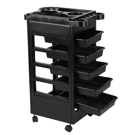 Homgrace Carrito con ruedas para organizar y almacenar diferentes herramientas de salón de belleza o uso