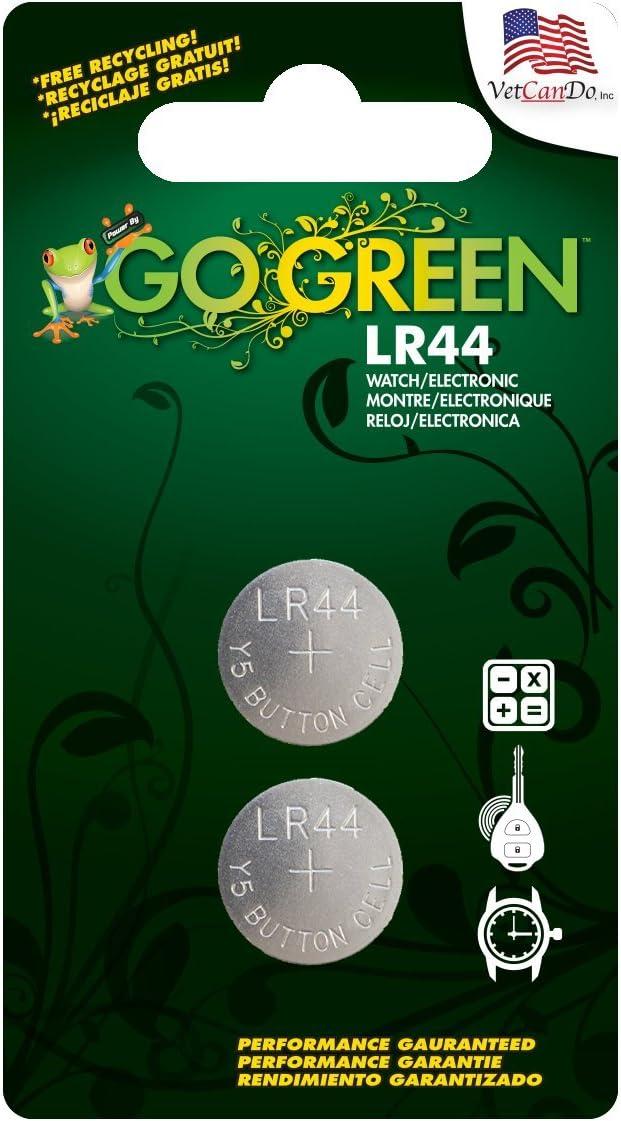 Go Green Power LR44 1.5V Button Cell Battery Gray 2 Pack