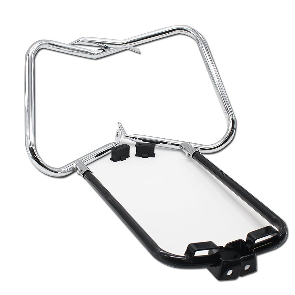 HTT Complete One Touch Saddlebag Hardware Kit with Chrome Latch Covers Reflectors Keys Lid Gaskets For Harley Touring FLT FLH 2014-2016