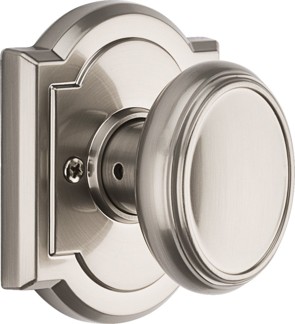 Baldwin Prestige Carnaby Half-Dummy Knob in Satin Nickel