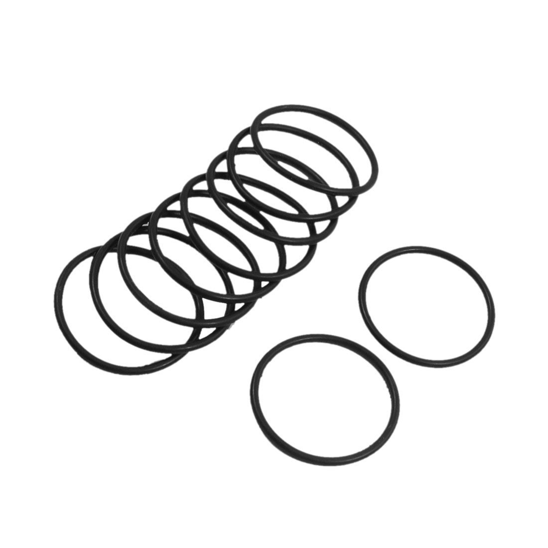 SODIAL(R) 10 pieces 30 mm x 2 mm Rubber Sealing Discs Oil Filter O Rings black
