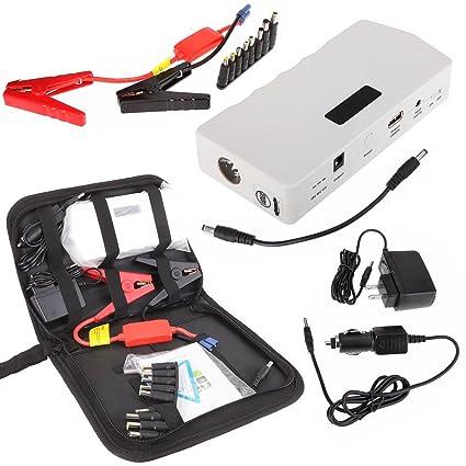 12000 mAh multifunción emergencia powerbank cargador de coche batería de arranque w/abrazaderas, compatible