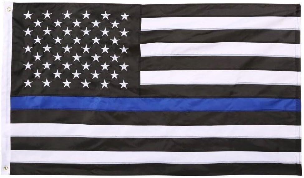 Naf Las Importaciones Thin Line La Bandera Americana Color Azul
