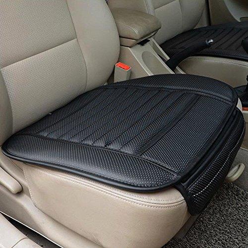 Silk Road Bamboo (UNAKIM--PU Leather Car Front Seats Cover Bamboo Slip Bucket Seat Protector Mat Cushion)