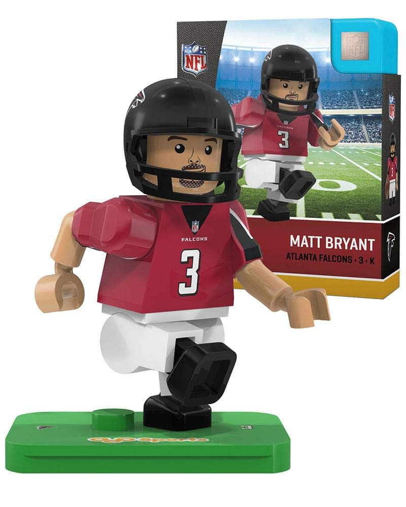 Black//ed One Size Oyo Sportstoys NFL Atlanta Falcons Sports Fan Bobble Head Toy Figures