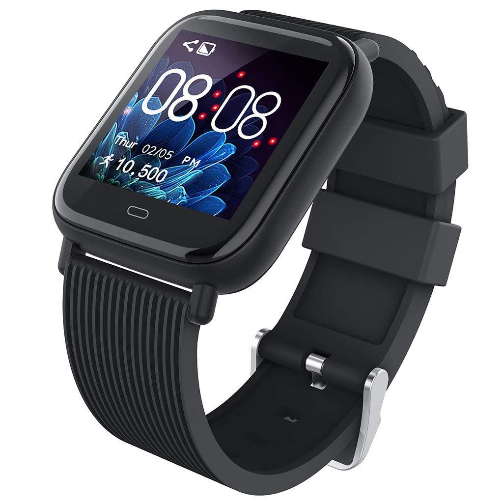 Bravetoshop Smart Watch Fitness Activity Heart Rate Tracker Blood Pressure Sports Smartwatch Calorie Monitor Black