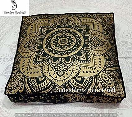 Amazon.com: Indian tapestry meditation cushion boho floor cushion ...