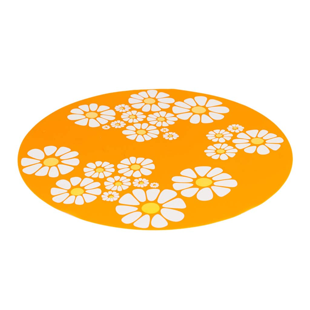 SuperUS Pet Mat, Small Flower Pet Water Dispenser Silicone Pet Mat Anti-Splash Anti-Slip Pet Mat