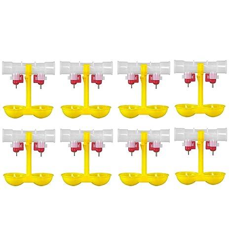 8 UNIDS Doble Alimentador Bebedor Bebida de Pollo Fuente de ...