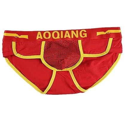 Ropa interior para hombres, Challeng bragas cuello bragas,Tangas de hombre Pantalones cortos de