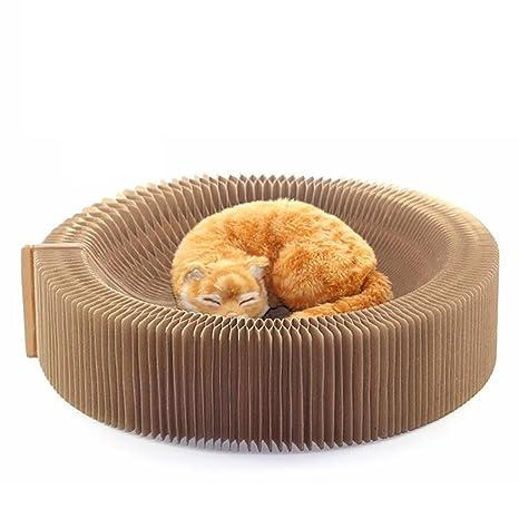 AmaMary Rayado Tabla Gato, corruga Ted Paper – Acordeón para gatos Tabla cama lounge Premium