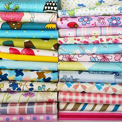 Pillow Cotton Fabric (Quilting Fabric, Misscrafts 25pcs 12