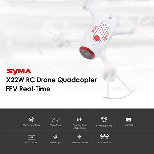 Syma X22W 2.4G Selfie RC Drone Quadcopter con WiFi Cámara FPV en ...