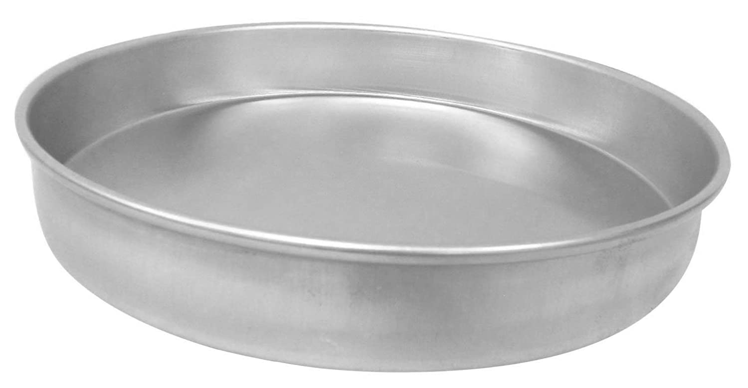 Straight Sided Allied Metal CP20X1 Hard Aluminum Pizza//Cake Pan 20 by 1-Inch